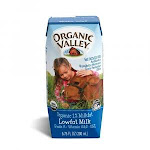 Organic Valley UHT White Lowfat Milk, 6.75 Fluid Ounce - 24 per case.