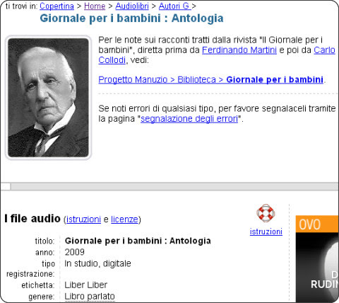 http://www.liberliber.it/audiolibri/g/giornale_per_i_bambini/index.php