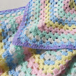 Baby Flower Crochet Blanket baby newborn shower gift afghan easter on Handmade Artists' Shop