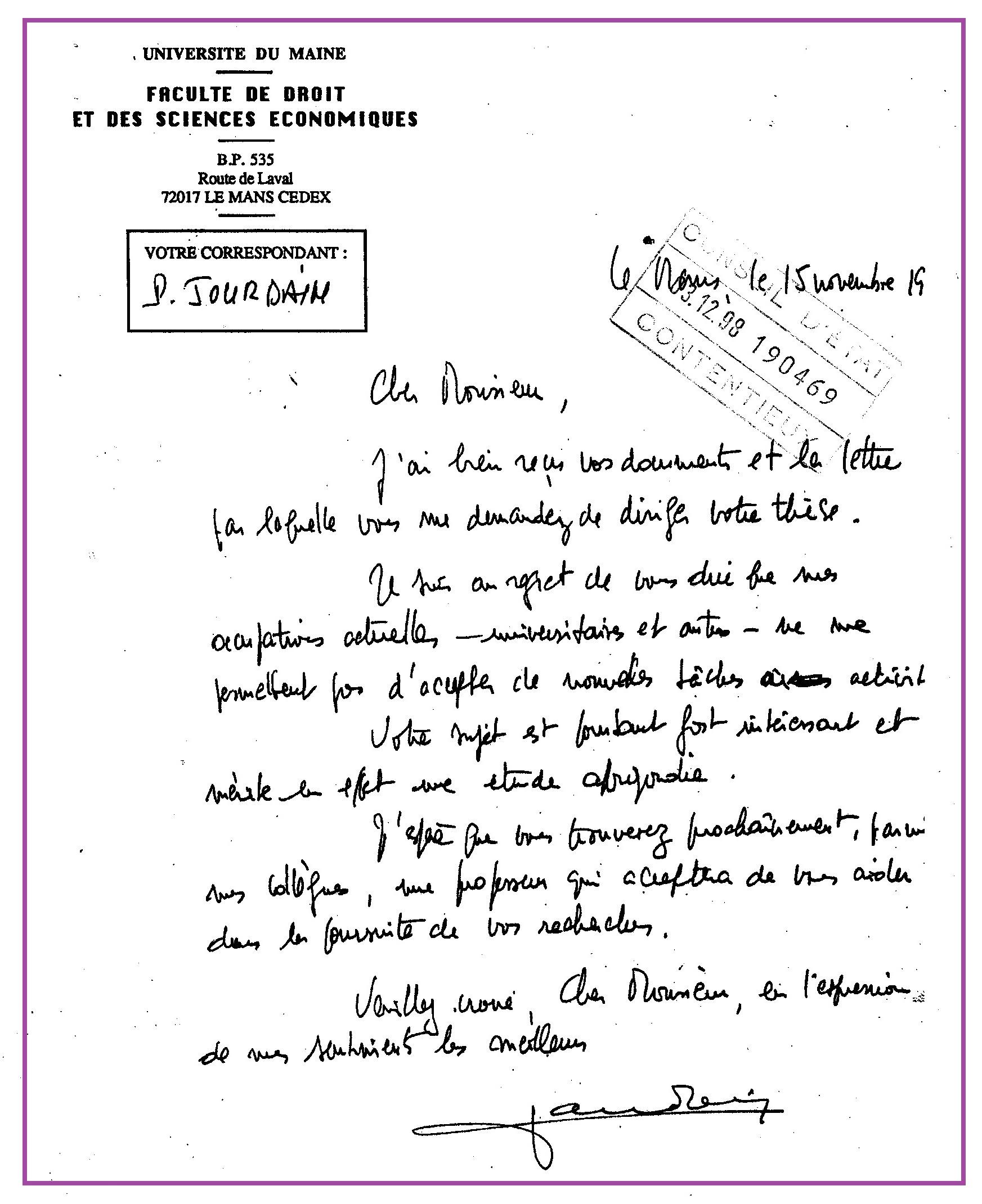 Lettre De Motivation Pour Sous Officier Gendarmerie - Lettre J