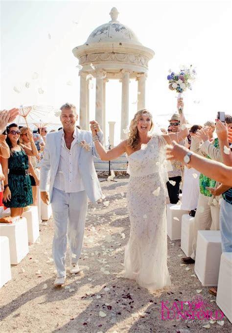 Son Marroig Mallorca Wedding   Walking back up the aisle