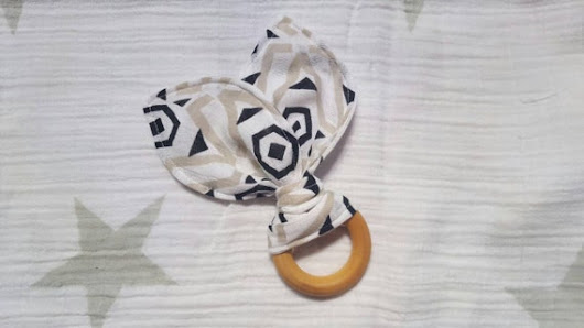 2.5 Maple Wooden Teething Ring treated w/ by RepurposedThread