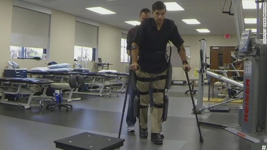 American Journey: Paralyzed Marine stands and accepts his Bronze Star
