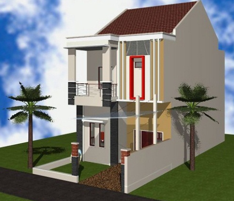 Denah Rumah Type 36 2 Lantai 3d - Sekitar Rumah