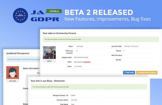 JA Joomla GDPR extension Beta 2 Released | Joomla Templates and Extensions Provider