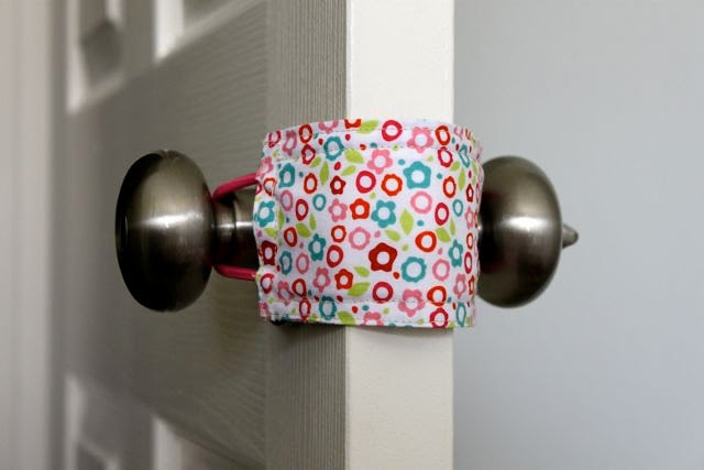 Baby Door Muff. $8.00, via Etsy.   Emma is now the proud owner of this little gem.