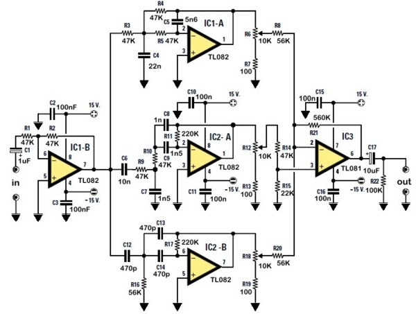 stereo tone control circuit