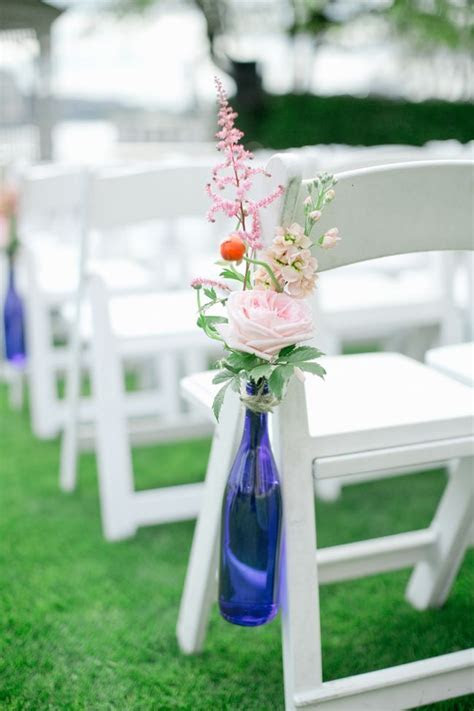 Pew Marker, Blue White and Pink Wedding, Morgan Gallo