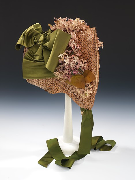 """Poke bonnet"" from The Met, supposedly c. 1865"