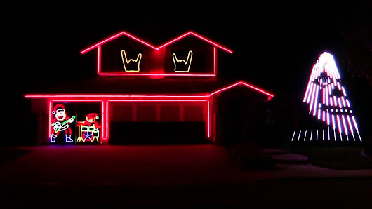 SLIPKNOT CHRISTMAS LIGHTS 2015 - YouTube