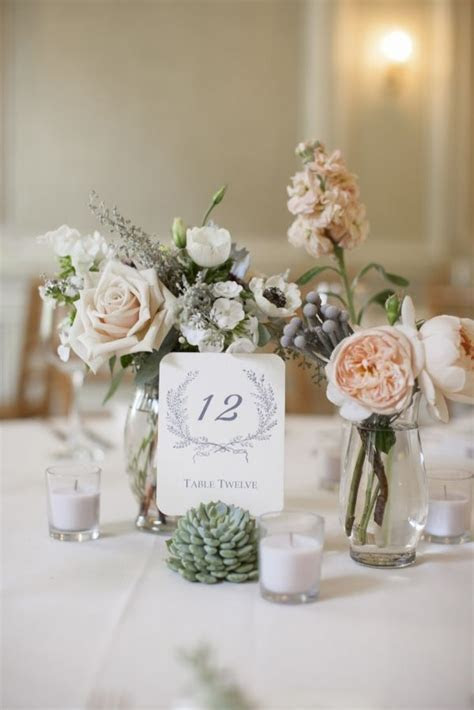 Anthropologie number cards ? we used this for our wedding