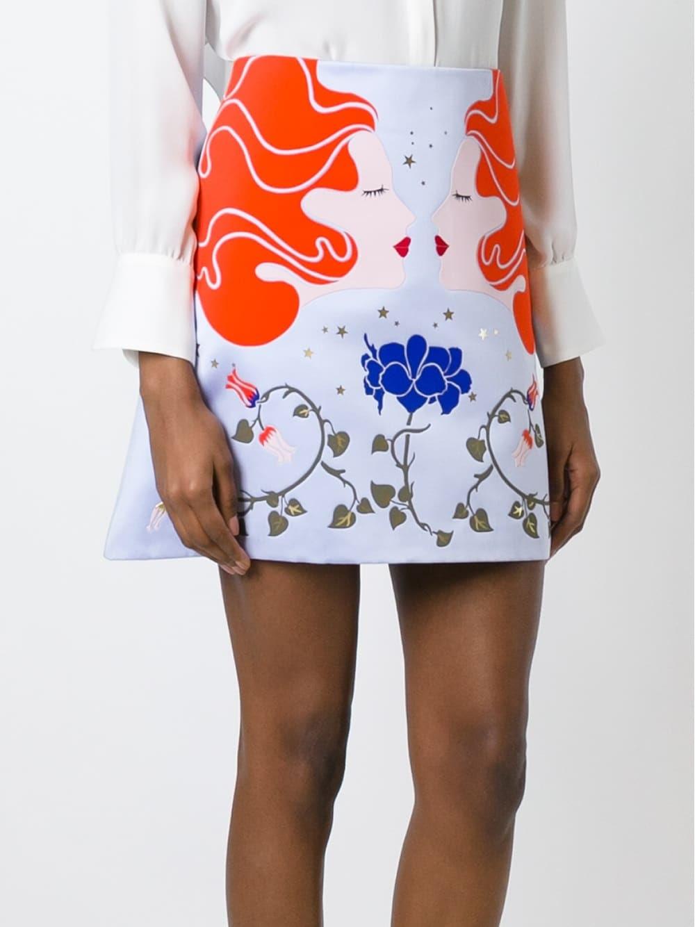 Vivetta appliqué portrait skirt