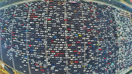 Ridiculous Traffic Jams in China Make for Eye-Popping Aerial Photos