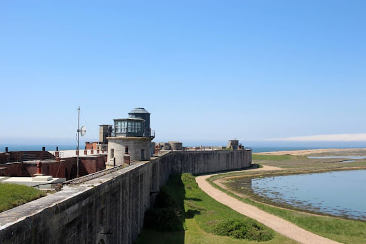 A Beautiful Day at Hurst Castle - What the Redhead said
