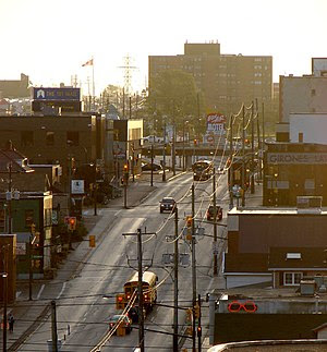 Algonquin Boulevard (Highway 101) in Timmins, ...