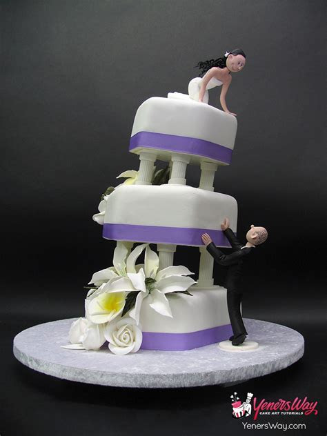 """Falling in Love"" Wedding Cake   Yeners Way"