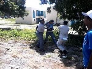 Manifestantes agredidos por policías en Dajabón.