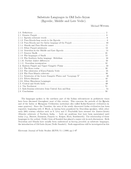 Substrate Languages in Old Indo-Aryan... (PDF Download Available)