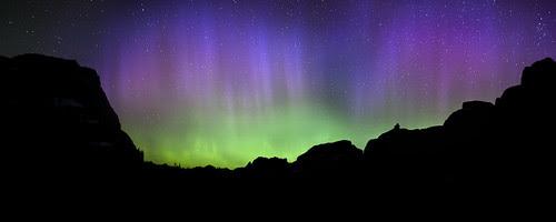 Northern Lights over Glacier National Park