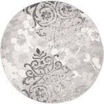 Safavieh Swirl Loomed Round Area Rug, Silver/Ivory