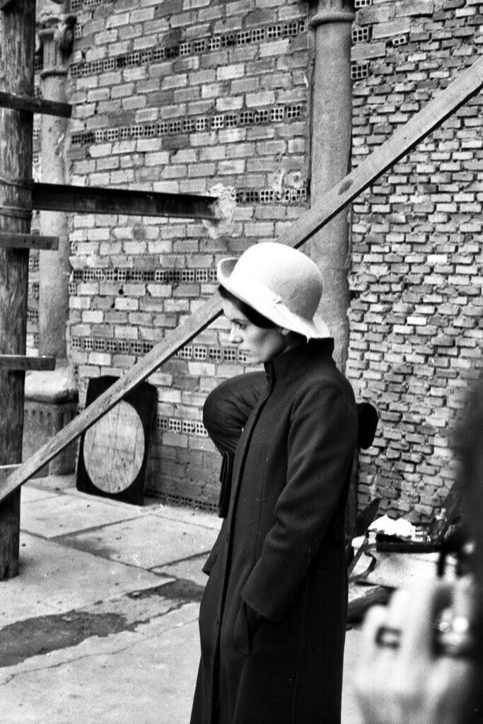 Catherine Deneuve en el rodaje de Tristana de Luis Buñuel en San Pedro Mártir. Fotografía de José Ponos