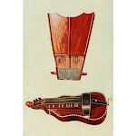 Musical Instruments 1921 Bell Harp & Hurdy-Gurdy Poster Print by William Gibb (24 x 36)