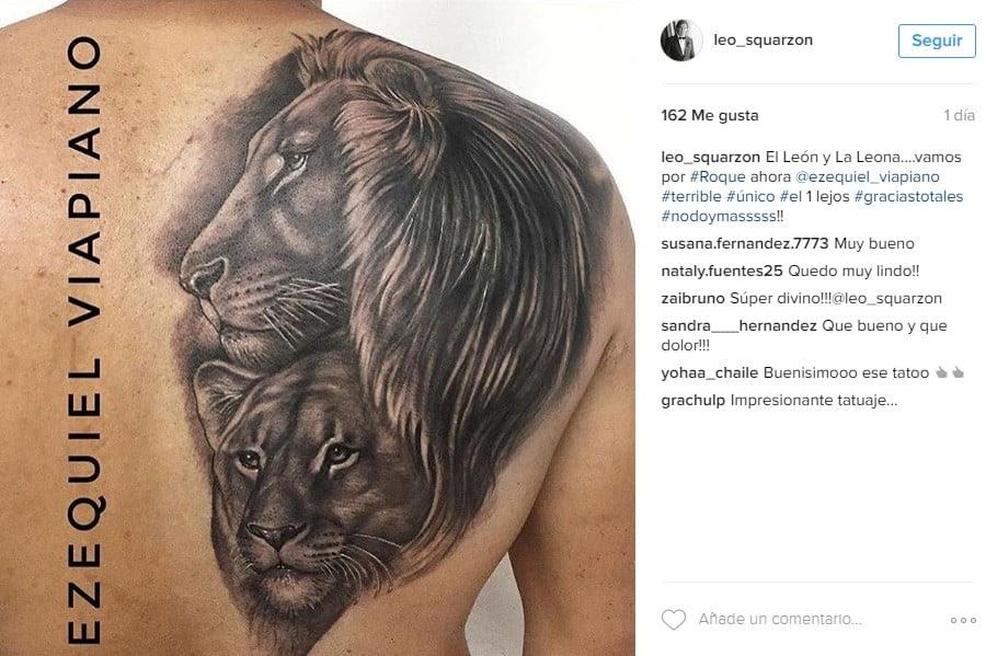Todo Por Amor Leo Squarzon Le Dedicó Un Súper Tatuaje A Granata