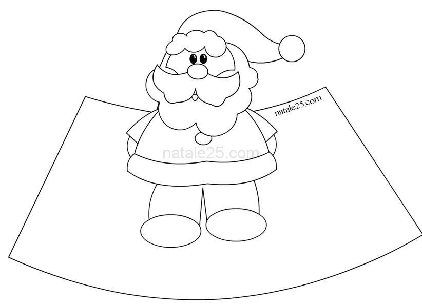 Babbo Natale In 3d Da Colorare Natale 25