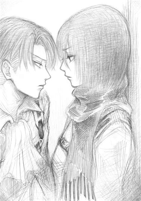 levi  mikasa images  pinterest drawing manga