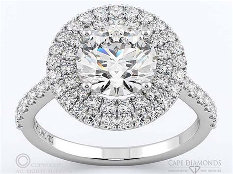 47. Double Halo Diamond Engagement Ring   South Africa