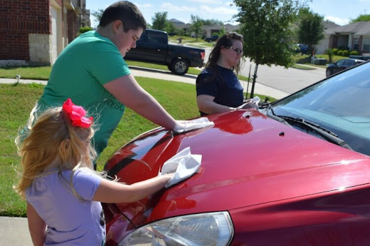 Easy Car Wash & Wax with the Kids | The TipToe Fairy