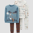 Toddler Boys' 4pc Moose Pajama Set - Just One You Made by Carter's Blue/Brown 5T, Boy's