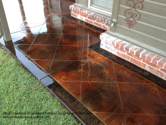 Staining Concrete Floor Basics | Concrete Stain Sealer | Etching ...