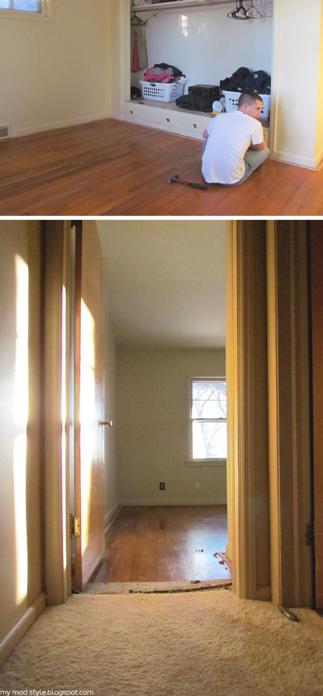 Our Bedroom wood floors