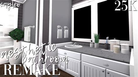 aesthetic bathroom remake bloxburg youtube