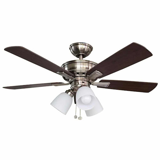 Vaurgas 44 inch LED Indoor Ceiling Fan | Hampton Bay Ceiling Fans Lighting & Patio Furniture Outlet