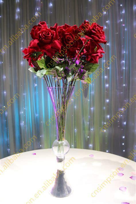 Wholesale Wedding Glass Vase Centerpieces,Clear Reversible