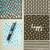 Patterns heureux de masques décoratifs de Stampin 'Up!