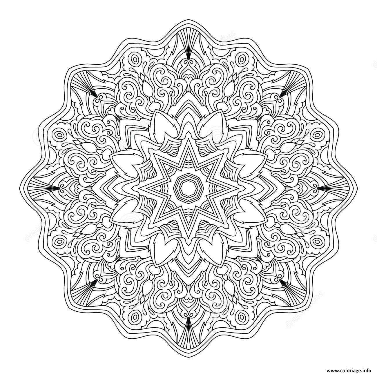 Coloriage Mandala Adulte Abstrait Art Therapie Jecoloriecom