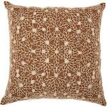 "Nourison Mina Victory Life Styles Crochet Brown Throw Pillow 20"" x 20"""