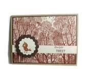 Blank Card Bird Card Woodland Card - lilaccottagecards