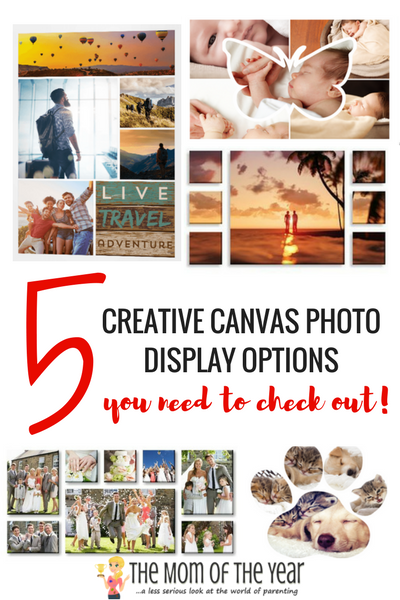 5 Creative Canvas Photo Displays - The Mom of the Year