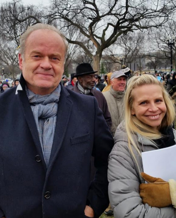 Actor Kelsey Grammer spotted at the 2016 March for Life (Photo: Twitter/Barrett Duke)