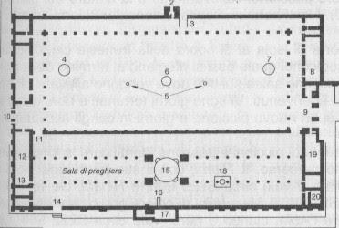 Planimetria Moschea Ommayyde