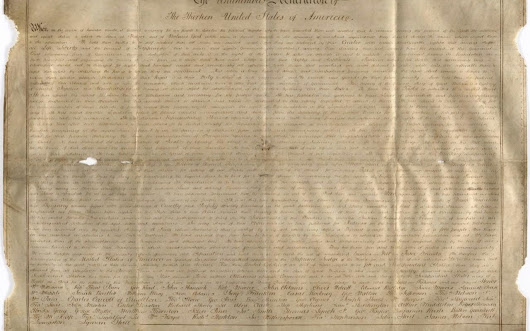 'Very precious' Declaration of Independence copy discovered in a Chichester record office
