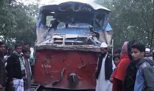 Train, covered van collision kills 2 in Gazipur | daily sun