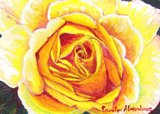 Yellow Rose | Carolyn Almendarez Art
