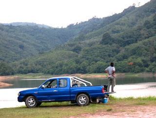 Admiring the views at Bang Wad Reservoir