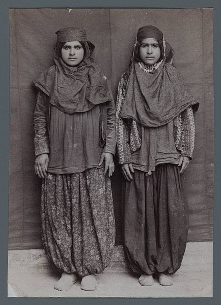 File:Brooklyn Museum - Two Woman Posing in Provincial Costumes including Pantaloons Chaqchur One of 274 Vintage Photographs.jpg