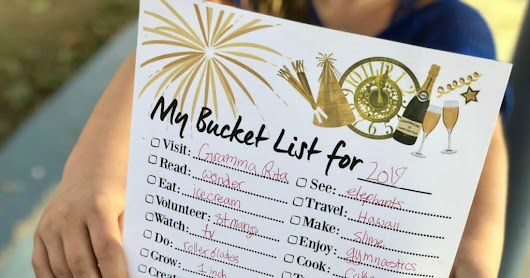 FREE Printable New Year's Bucket List - Hip2Save